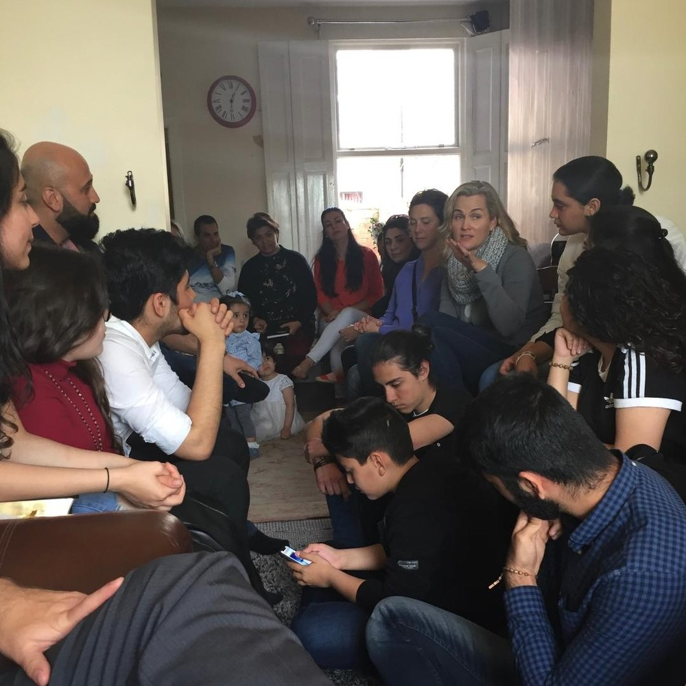 """Gathered with Iranian teenagers in the """"house of prayer"""""""