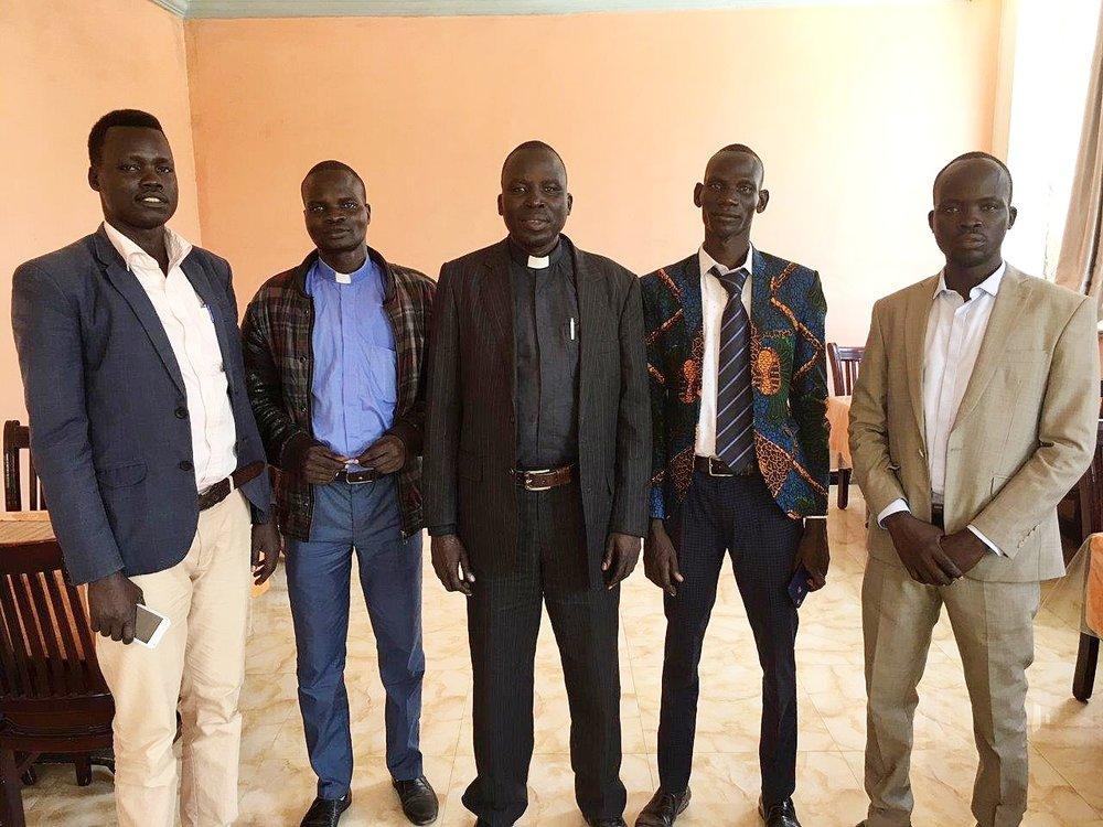 East Gambella Bethel Synod leaders-Rev. Ogatu Ojulum, president, is in the center