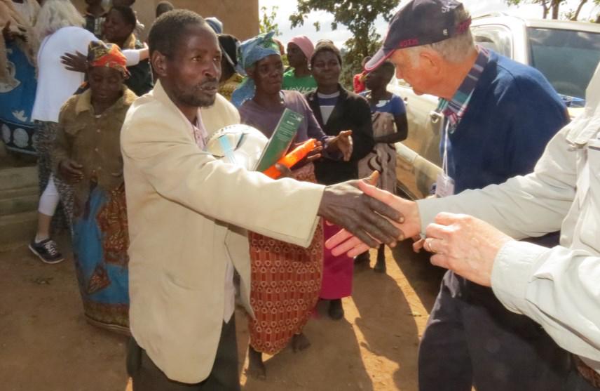 Greeting elders and members of Mtangowatsanja
