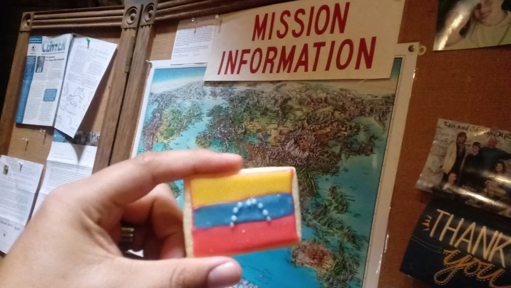 A Venezuelan flag cookie served as a prayer reminder to participants of Missions Day at the First Presbyterian Church of Pittsburgh