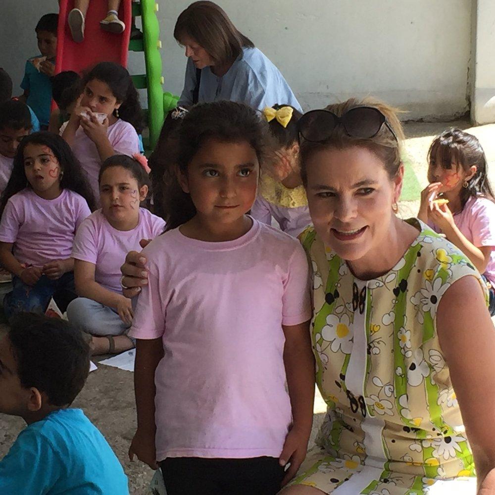 Evangeline gets close with sweet kids at  Kab Elias school