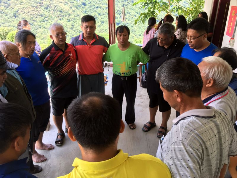 Bunun pastors singing in their eight-part harmony
