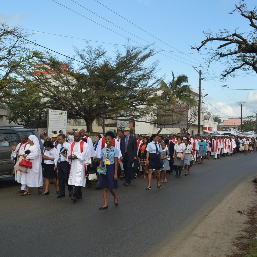 One of four FJKM processions in Toamasina, August 18th, 2018
