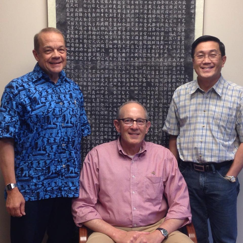 Jeff Ritchie, Outreach Executive Director Rob Weingartner and Peter Lim