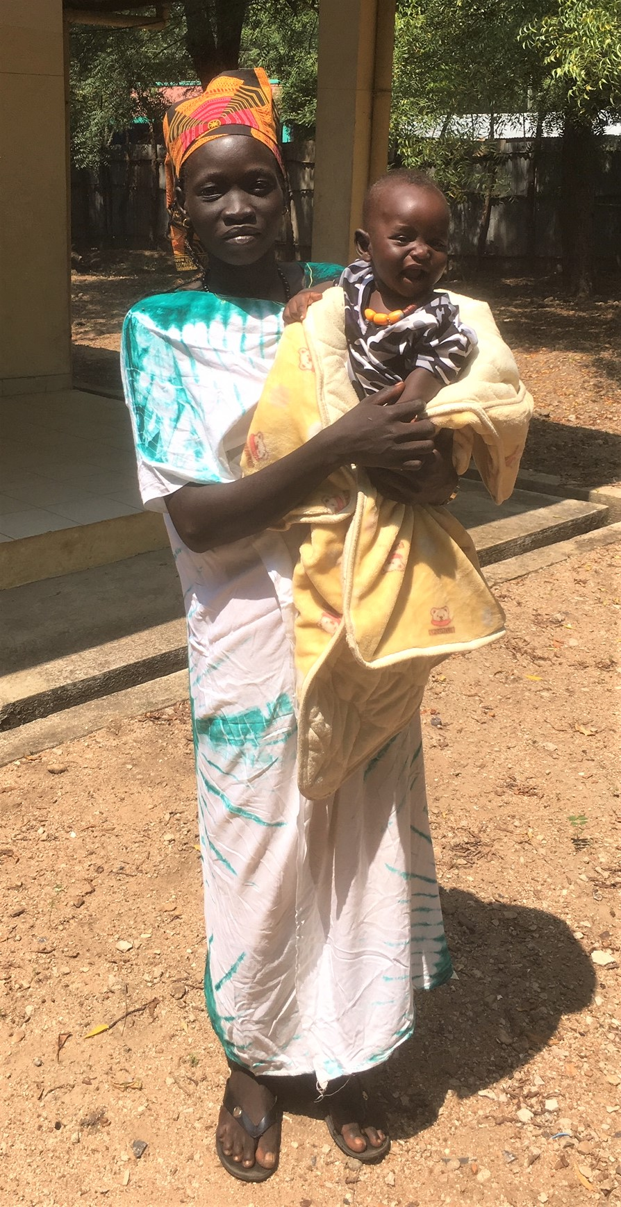 Mary Nyajuok John Palek from Jewi Refugee camp. She came to the first session of the Audio training in June and was VERY pregnant. Now she's back with her first-born, son Boi (meaning Light). She has been named as the leader of the trauma healing group in her camp.