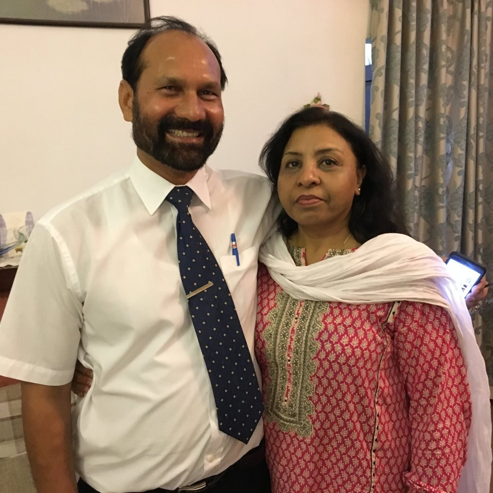 Professor Maqsood Kamil and his wife Ruby