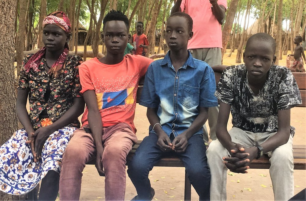 4 of the youth who participated in the Children's trauma healing camp last November