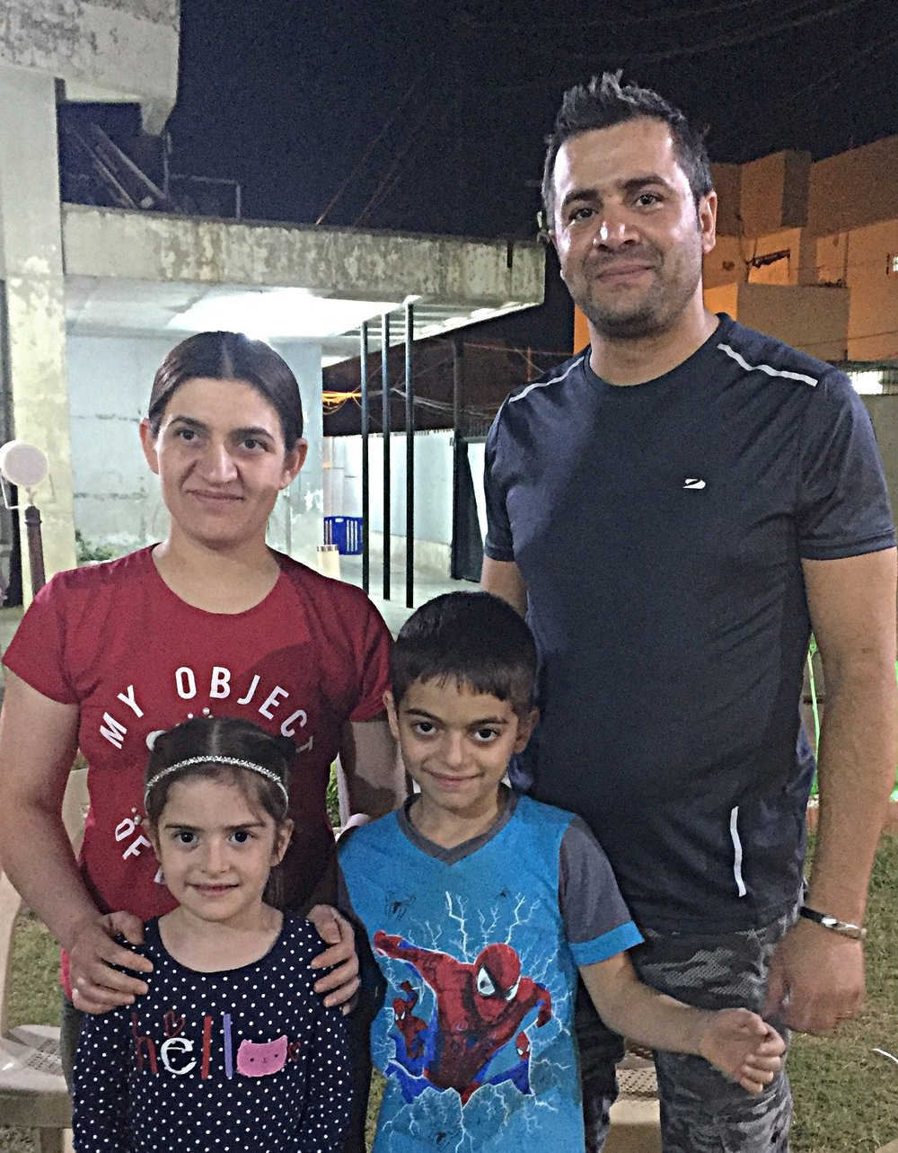 Zena and Nashwan and their children found a haven and hope at the Kirkuk Presbyterian Church