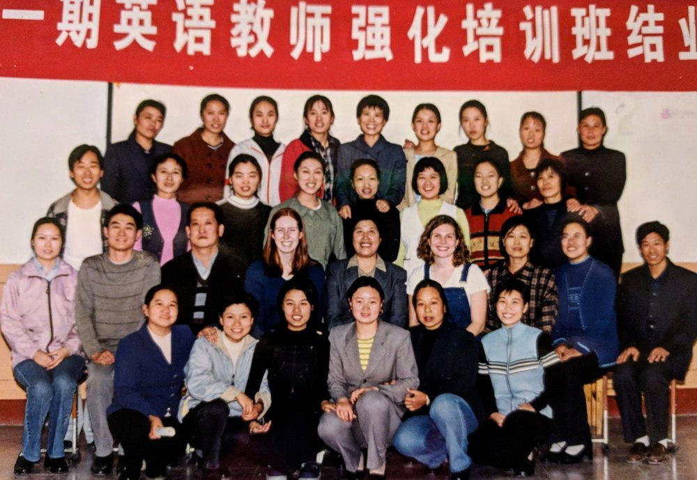 Caroline Sunquist Becker, Amity teacher 2001-2003, second row fourth from right