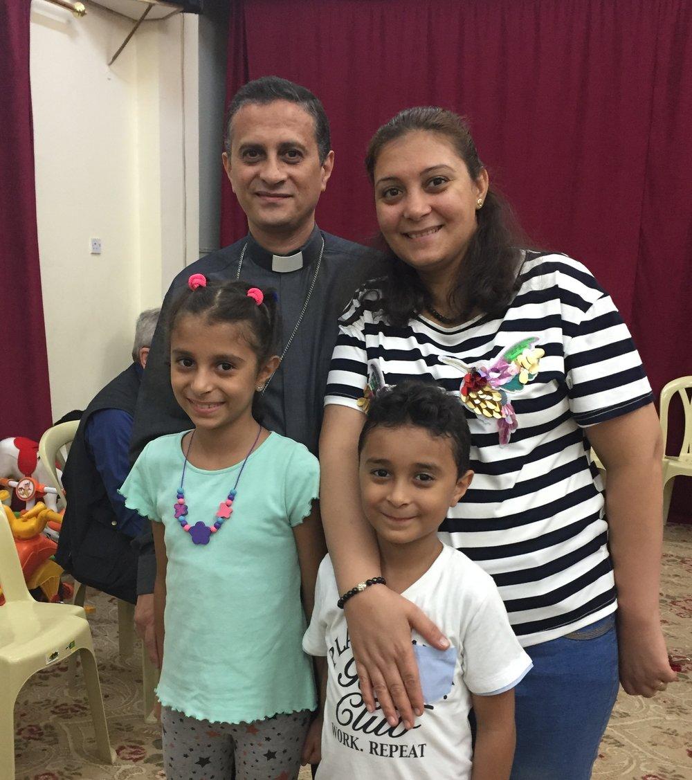 Rev. Amgad Samir, Mary, and their children Joyce and John
