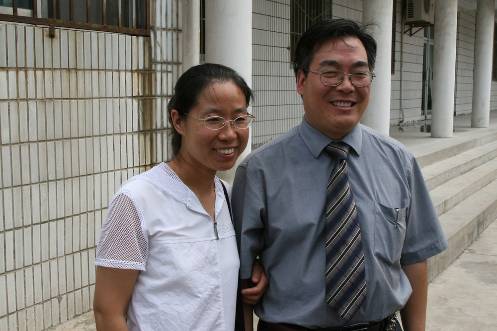 Rev. Wang Hong, left and Rev. Wang Jun, right  Shaanxi Provincial Christian Council leaders
