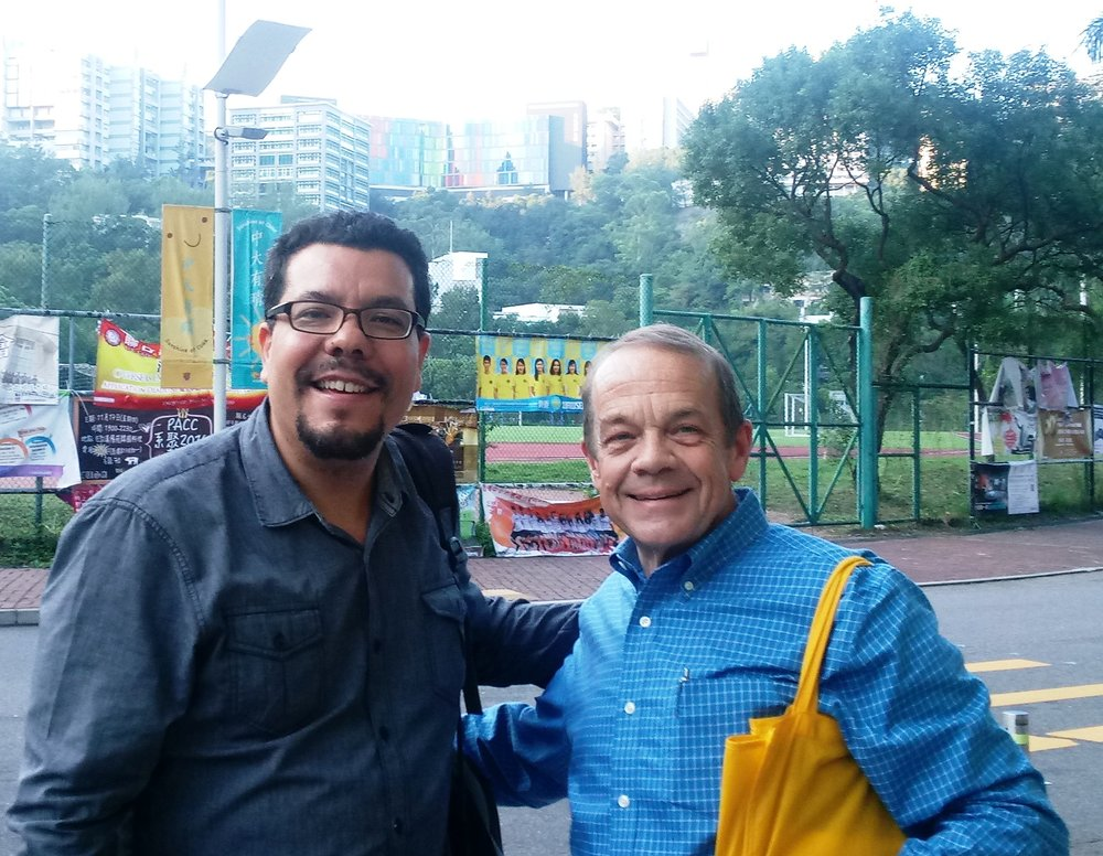 Juan Sarmiento, new Associate Director for Mission  Shown with Jeff Ritchie in Hong Kong on 2016 trip