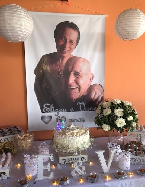 Elizeu and Dona Vane's 60th wedding anniversary celebration