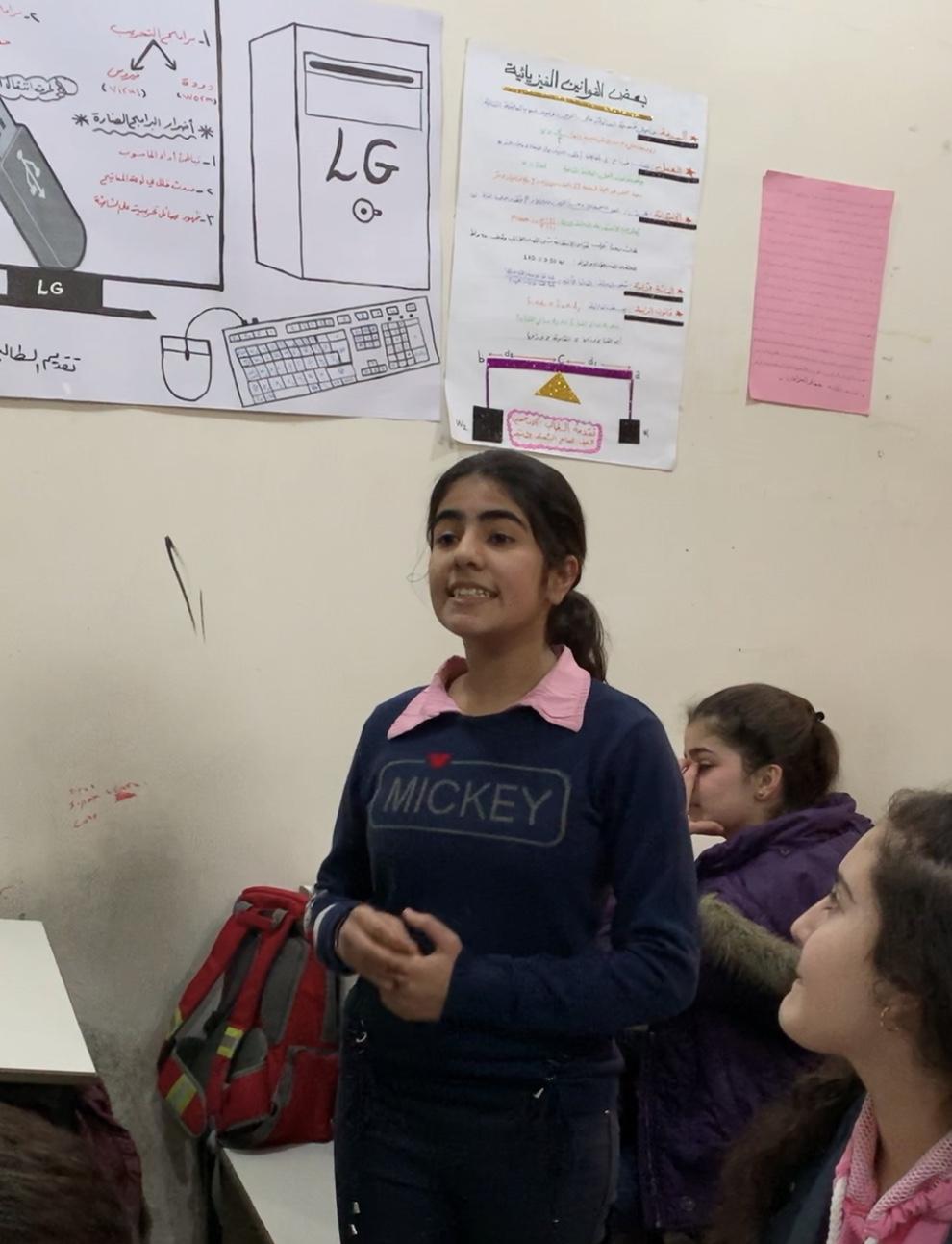 "Qamishli student recites ""I Have a Dream"""