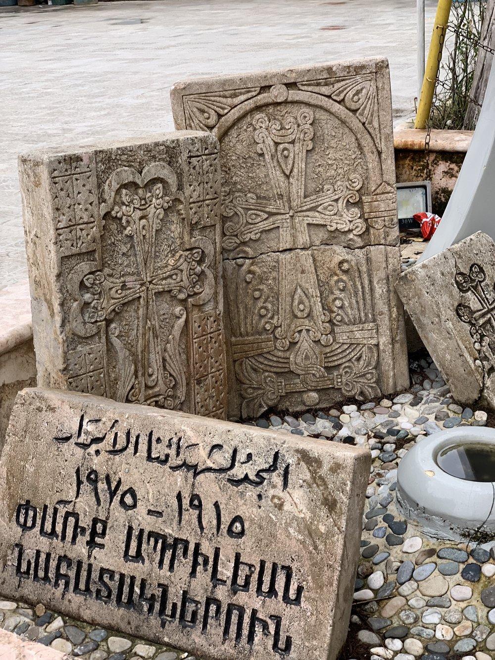 Armenian genocide memorial in Qamishly
