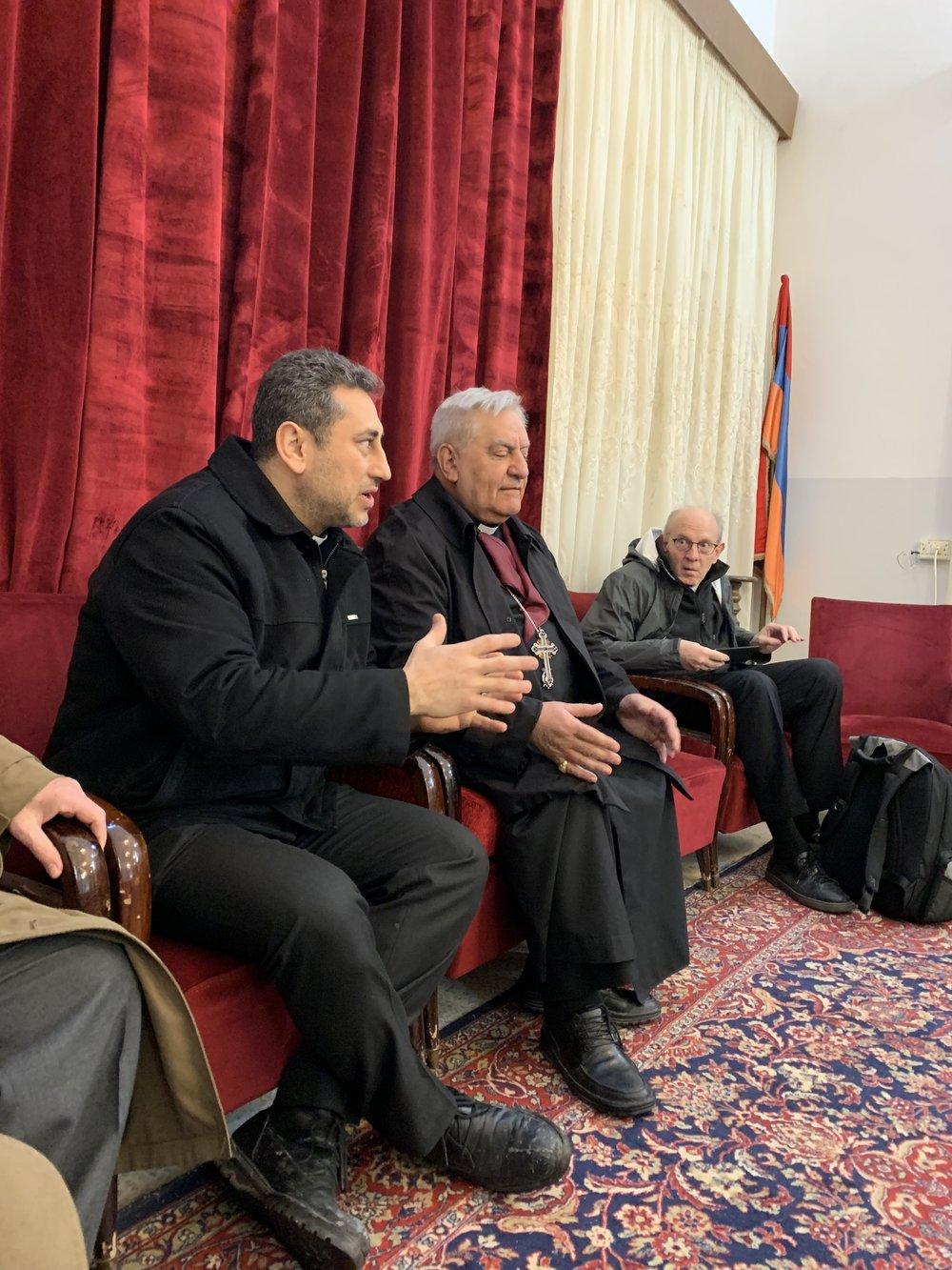 Rev. Firas with his spiritual big brother Armenian Catholic Bishop Antranig Avmerian