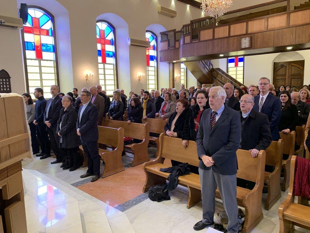 Worship in Damascus church