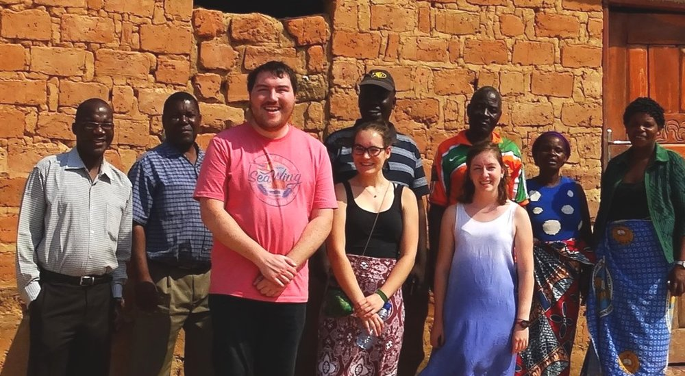 """Rev. Phiri (far left) and others from Lusaka and Chimwangombe, training the Young Adult Volunteers to become, as Rev. Phiri often joked, """"Young African Villagers."""""""
