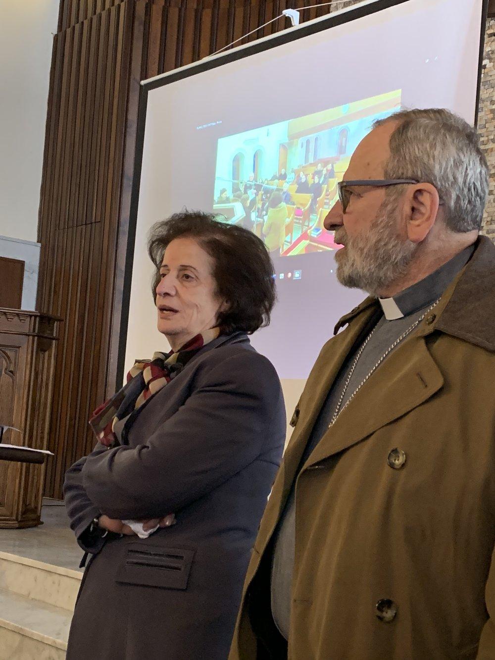 Elder Najwa Kachich with Rev. Nuhad Tomeh