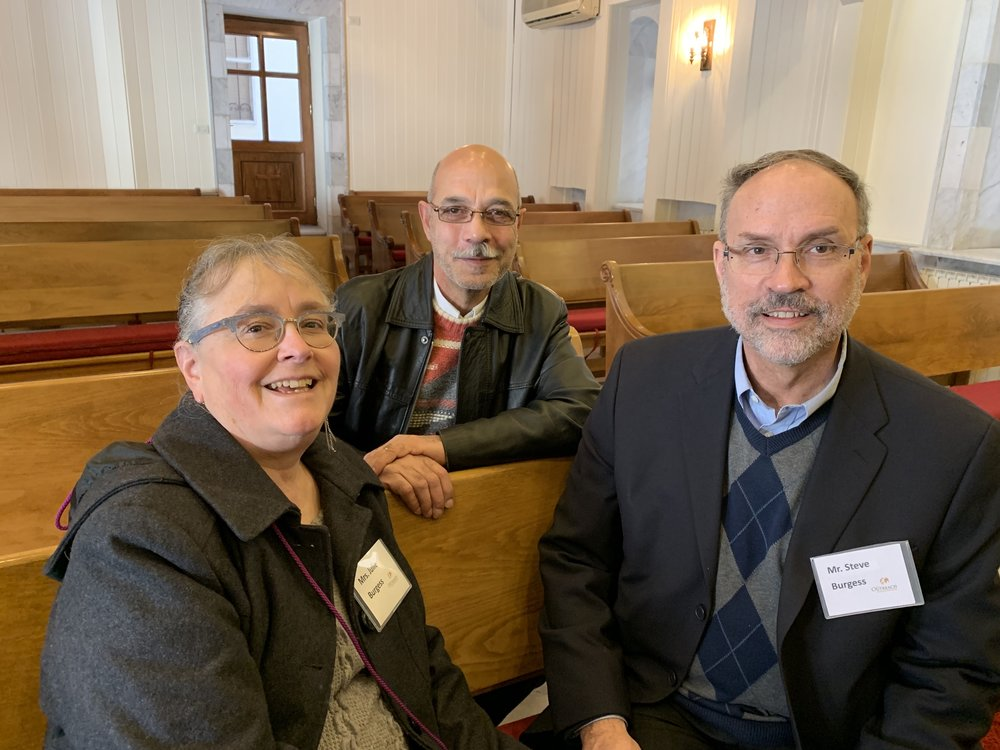 Julie and Steve with Elder Abdelmessiah