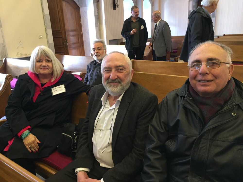 Marilyn with elders Marwan and Walid of Homs church