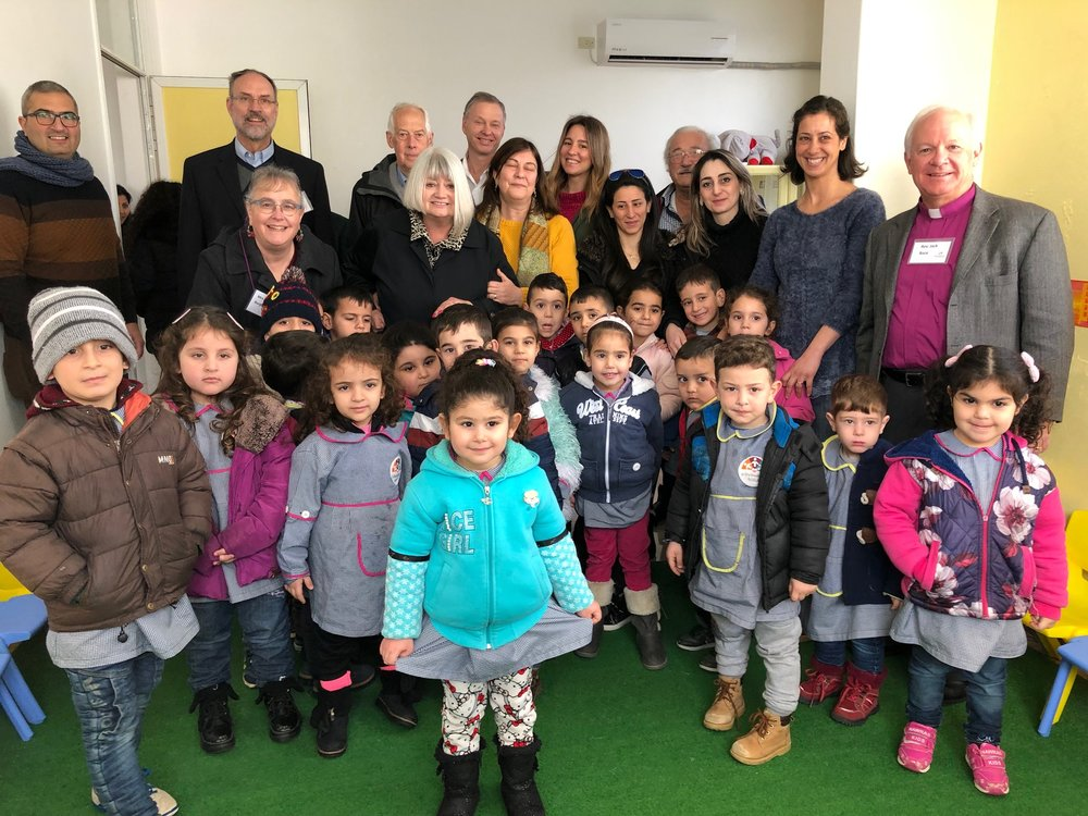 Outreach team with the Love and Hope Preschool students and staff