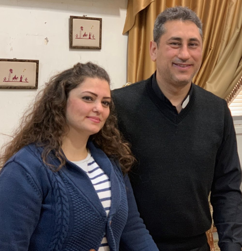 Rev. Firas and his wife, Sylva, have two sons, Aram and Jude