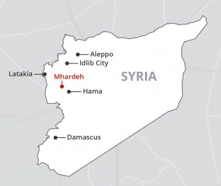 Hope  for Syrian Students March 2019 update map.png