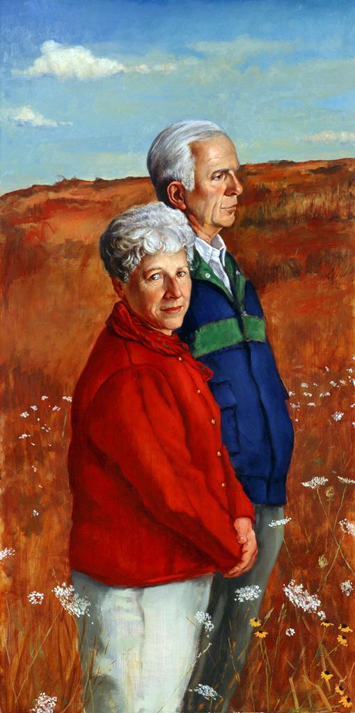 "LEFT PANEL OF TRIPTYCH ""US"" (The Artist's Parents)"