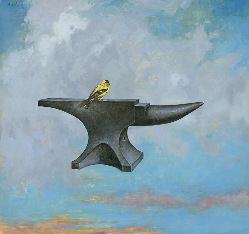 GOLD FINCH AND ANVIL