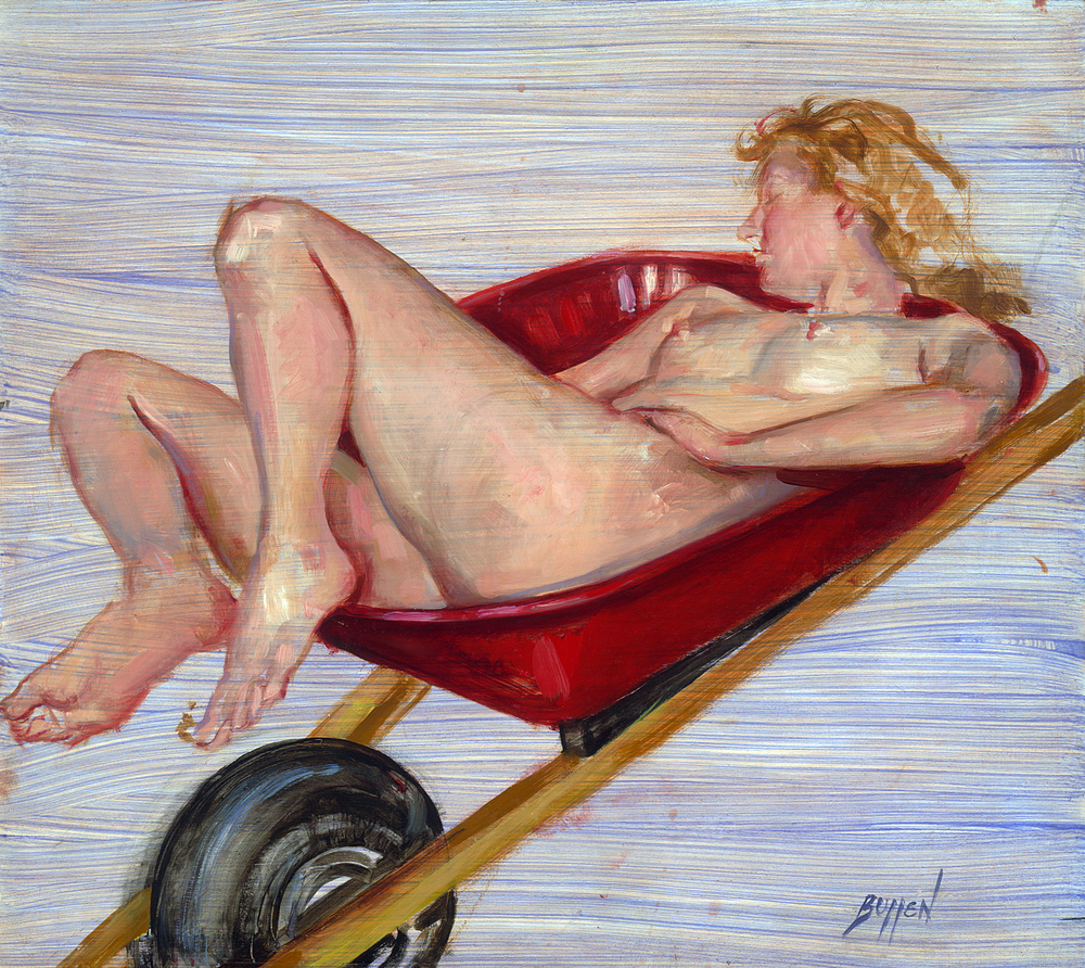 Wheelbarrow Nude