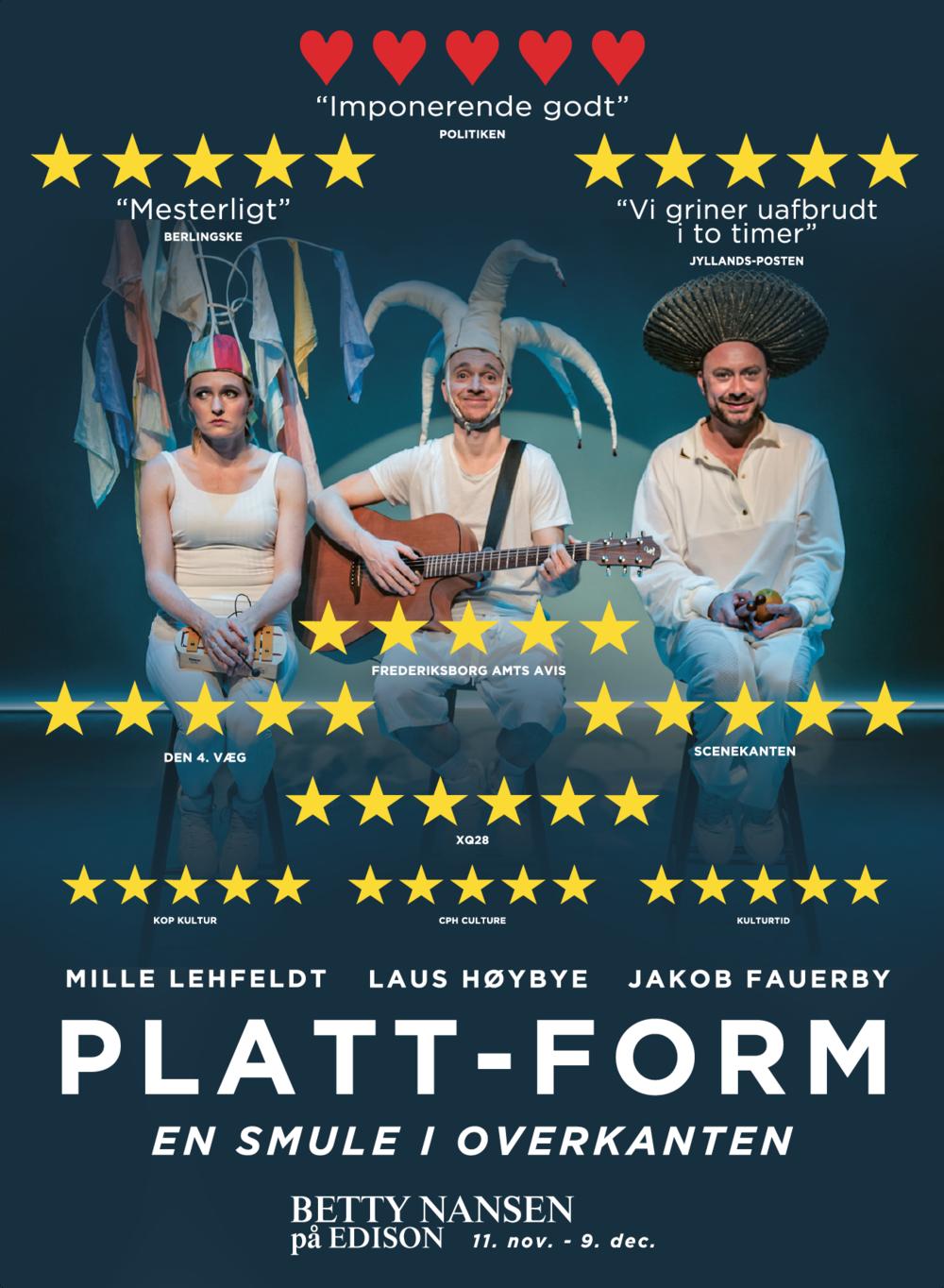 Montre plakat til Platt-Form 2017