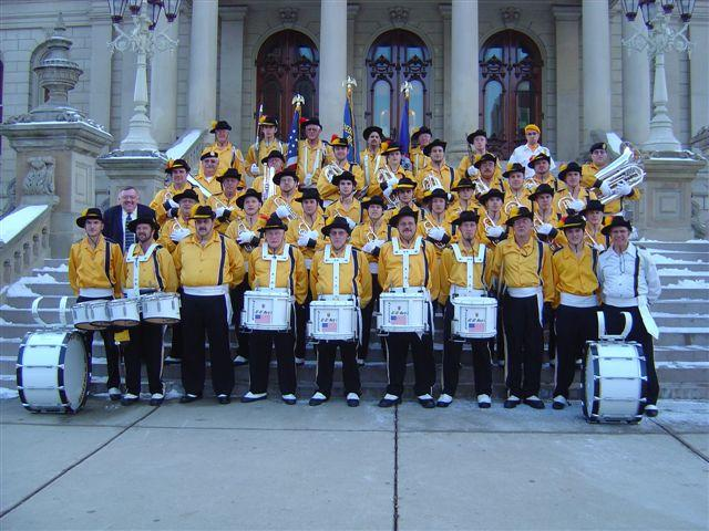 Marty's Goldenaires on the steps of the state capitol in Lansing, MI.