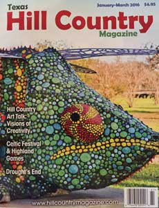 """Smile big for the camera!"" ... Skittles makes the cover of Texas Hill Country Magazine (January-March 2016 issue)"