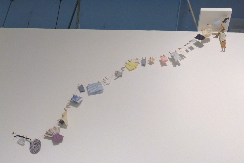 Little Boxes  exhibition view:   Clothesline , 2014.