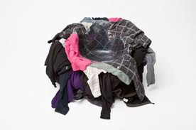 Hah . . a chair made of clothes!