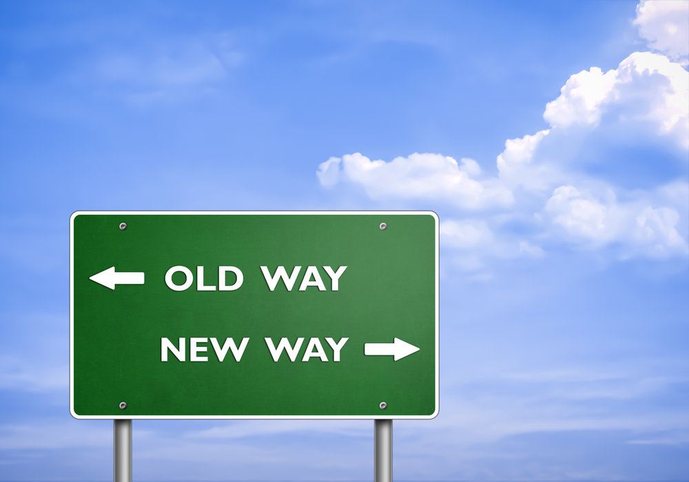 Who do WE need to become to get from the OLD way to the NEW way?