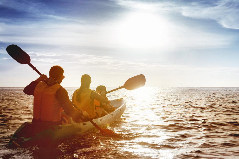 Paddle, paddle, glide . . .