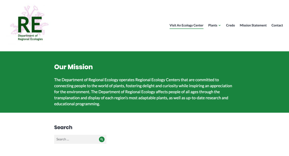 department of regional ecologies website