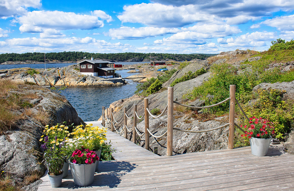 Hytteidyll fra Store Arøyas sydside