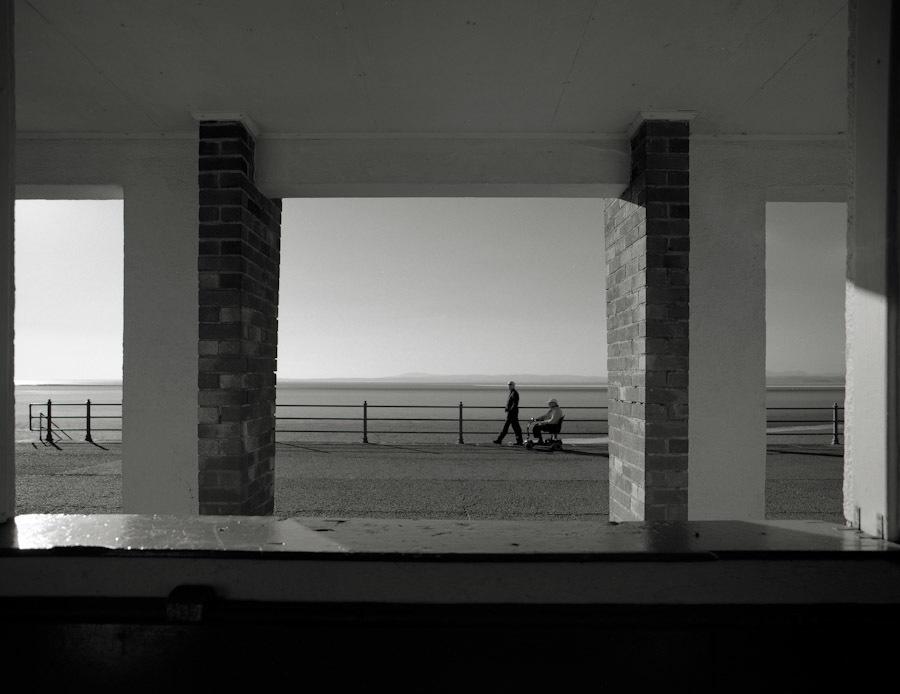 Bus stop, Morecambe Bay.
