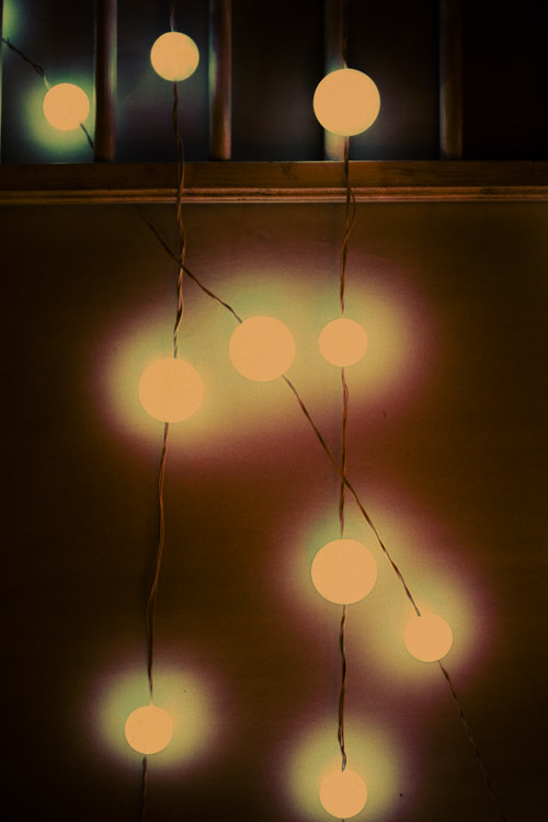 Floating fairy lights.