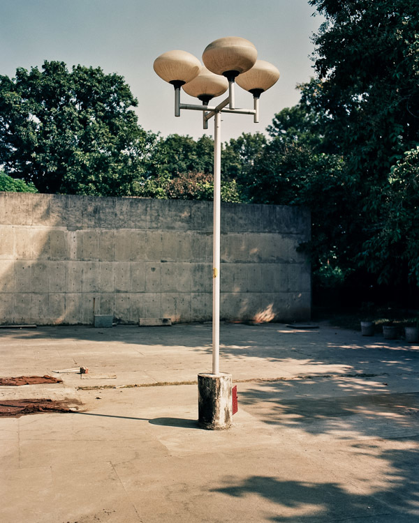 Le Corbusier street light. Chandigarh, India.
