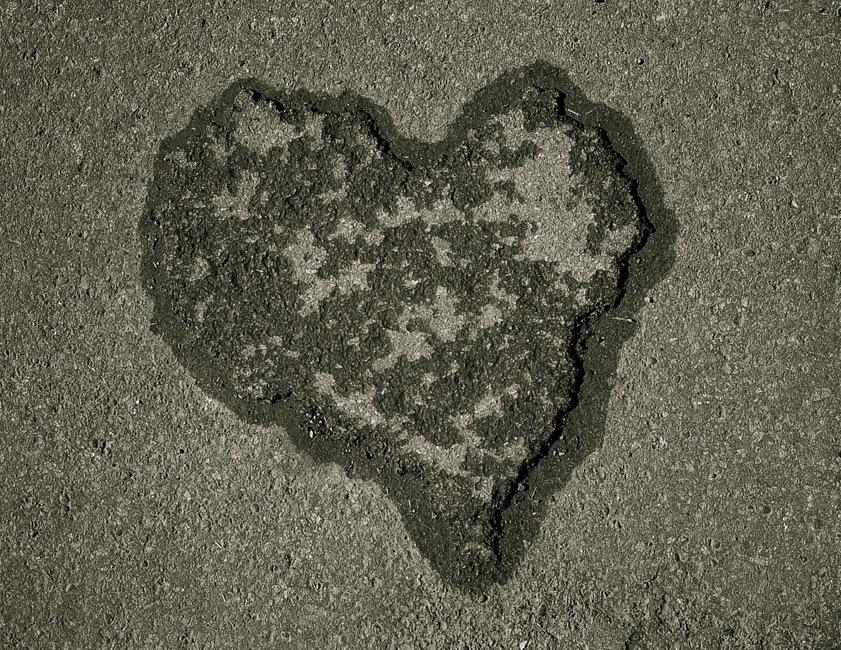Found heart.
