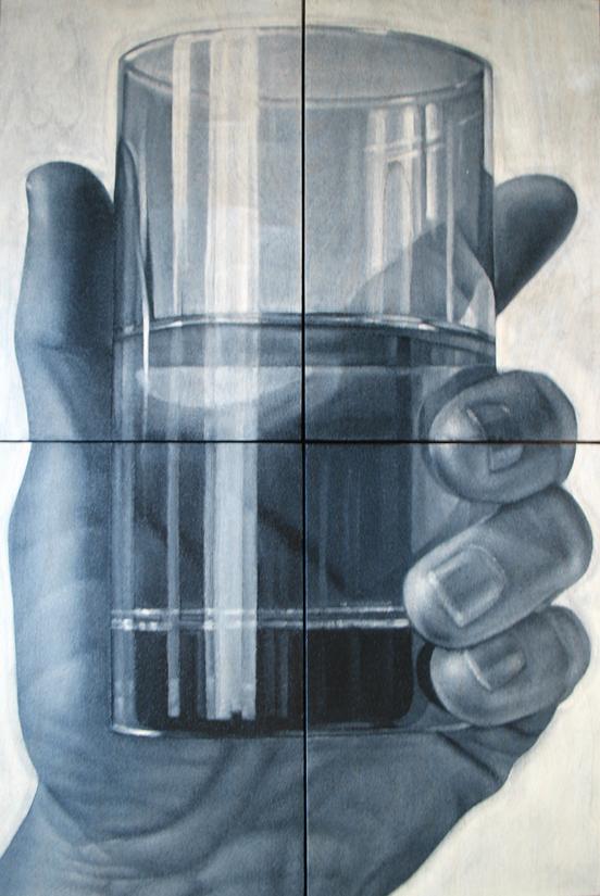 """Glass"" oil on birch, 36""x24"""