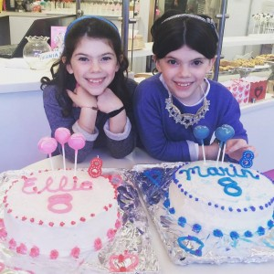 My girls celebrating their 8th birthday!