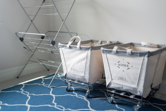 Oddly enough, doing laundry is one of my least favorite tasks yet the laundry room is one of my favorite rooms. The  laundry baskets  totally make the room and are currently on  SUPER sale ...