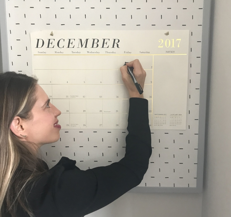 Calendar +  Framed Pinboard