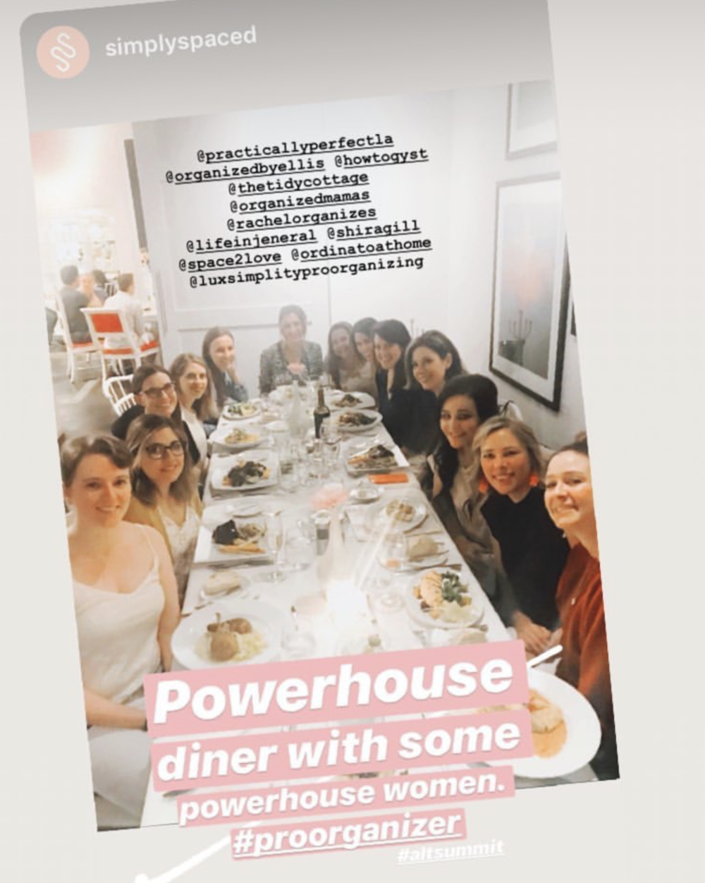 I met and had dinner with 12 other amazing organizers from across the country!