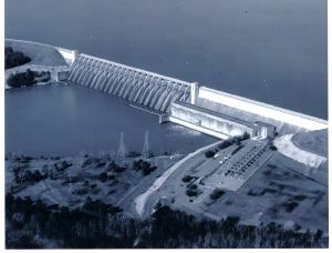 Construction of Clarks Hill Dam